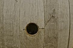 Отверстие и сеть паука бочонка вина Стоковое Изображение