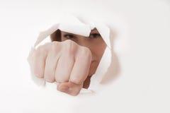 Отверстие кулака пробивая стоковое фото rf