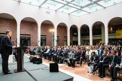 Отверстие международного противокоррупционного конференции предотвращать стоковые фотографии rf