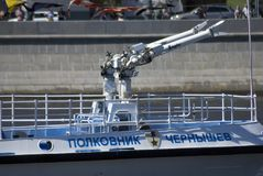Отверстие навигации season-2018 в парке Gorky, Москве Стоковое Изображение RF