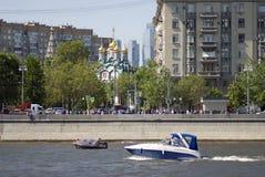 Отверстие навигации season-2018 в парке Gorky, Москве Стоковое фото RF