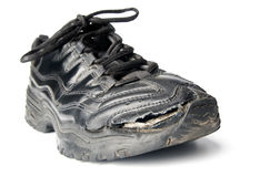 отверстие обуви фрагментарное старое Стоковое фото RF