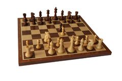 Отверстие шахмат Игра вены стоковые фото