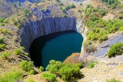 Отверстие шахты диаманта Кимберли большое Стоковые Изображения RF