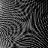 Отверстие щетки динамических изогнутых линий абстрактная геометрическая картина Стоковое Изображение RF