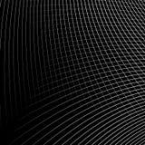 Отверстие щетки динамических изогнутых линий абстрактная геометрическая картина иллюстрация штока