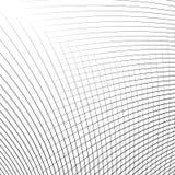 Отверстие щетки динамических изогнутых линий абстрактная геометрическая картина Стоковые Фото
