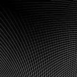 Отверстие щетки динамических изогнутых линий абстрактная геометрическая картина Стоковое Фото
