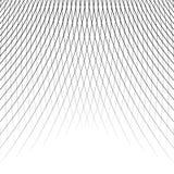 Отверстие щетки динамических изогнутых линий абстрактная геометрическая картина Стоковая Фотография RF