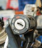 Отверстие для ключа мотоцикла стоковые фотографии rf