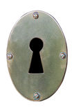 Отверстие для ключа на белой предпосылке Стоковое фото RF