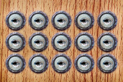 Отверстие для ключа на деревянной предпосылке Стоковые Фотографии RF