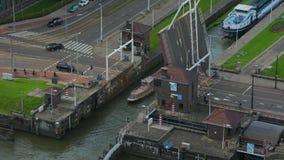 Отверстие Drawbridge для корабля акции видеоматериалы