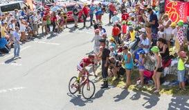 Ответная часть Mardones Луис Анджела велосипедиста на Col du Glandon - путешествуйте de Стоковое Изображение RF