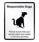 Ответственный знак данным по собак Стоковая Фотография