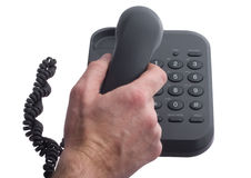 отвечая телефон Стоковые Изображения RF