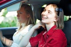 отвлеканный водитель подростковый Стоковая Фотография RF