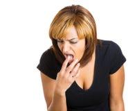 Отвращение показа женщины Стоковые Фотографии RF
