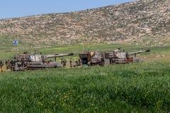 Отдаленная область Израил-АПРЕЛЯ 03,2017: ВОЕННЫЕ УЧЕНИЯ сил обороны Израиля Стоковое Изображение RF
