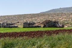 Отдаленная область Израил-АПРЕЛЯ 03,2017: ВОЕННЫЕ УЧЕНИЯ сил обороны Израиля Стоковое фото RF