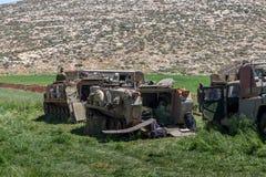 Отдаленная область Израил-АПРЕЛЯ 03,2017: ВОЕННЫЕ УЧЕНИЯ сил обороны Израиля Стоковые Изображения RF