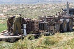 Отдаленная область Израил-АПРЕЛЯ 03,2017: ВОЕННЫЕ УЧЕНИЯ сил обороны Израиля Стоковое Фото