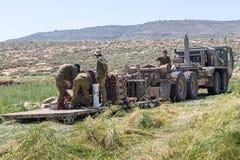 Отдаленная область Израил-АПРЕЛЯ 03,2017: ВОЕННЫЕ УЧЕНИЯ сил обороны Израиля Стоковая Фотография RF
