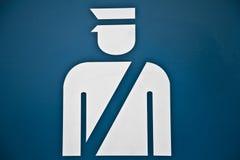отделение полици иконы Стоковые Фотографии RF
