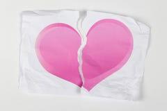 отделенное сорванное сердце Стоковые Фотографии RF