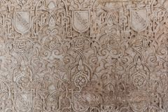Отделки стен арабескы в Альгамбра, Испании Стоковые Фотографии RF