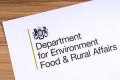 Отдел Великобритании для еды окружающей среды и сельских дел стоковая фотография rf
