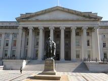Отдел здания казначейства, DC Вашингтона стоковая фотография