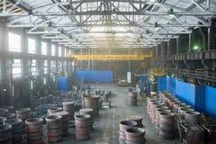 Отдел продукции современного завода стоковое фото rf