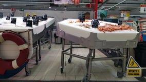 Отдел рыб и морепродуктов Стоковое Изображение RF