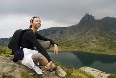 отдыхать альпиниста Стоковое Изображение RF