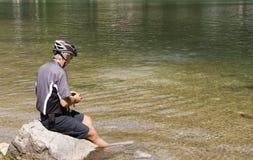 отдыхать велосипедиста Стоковое Фото