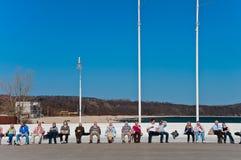отдыхать людей стенда Стоковые Фото