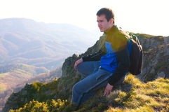 отдыхать hiker Стоковое фото RF