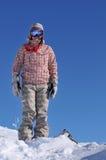 отдыхая snowboarder Стоковое Фото
