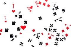 отдых близкой игры карточки изолированный вверх по белизне Стоковая Фотография RF