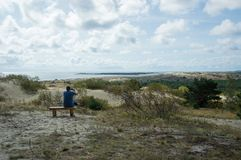 Отдых в curonian разделении Стоковая Фотография