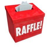 50-50 лотерея входит в для того чтобы выиграть падение коробки ваши билеты иллюстрация штока