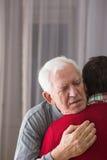 Отец говоря на последнем месте до свидания Стоковое Фото