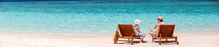 отец дочи пляжа Стоковые Фотографии RF
