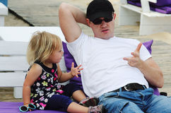 Отец и дочь стоковая фотография rf