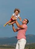 Отец и дочь Стоковые Изображения