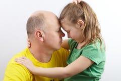 Отец и дочь стоковые фотографии rf