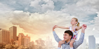 Отец и дочь Стоковое Изображение RF
