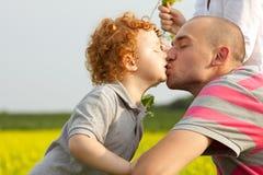 Отец и сынок Стоковая Фотография RF
