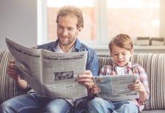 Отец и сынок стоковая фотография